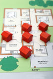 Little wood houses on a plan. Some little wood houses on a plan Stock Photography