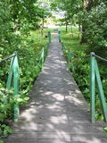 Little wooden bridge Royalty Free Stock Image