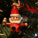 Little wooden Christmas decoration Stock Images