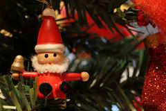 Little wooden Christmas decoration Royalty Free Stock Photography