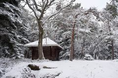Little wooden cottage in the Vosges mountains Stock Photography