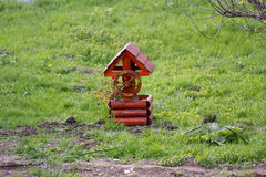 Little Wooden Decorative Wishing Well Stock Photography