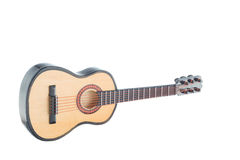 Little wooden guitar souvenir royalty free stock photos