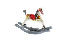 Little wooden horse  on white background Stock Image