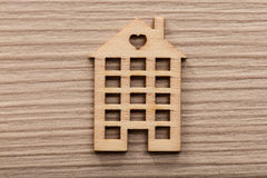 Little wooden house figure background or wallpaper Royalty Free Stock Image