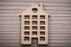 Little wooden house figure background or wallpaper Royalty Free Stock Images