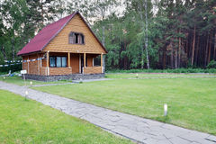 Little Wooden House Made of Logs Royalty Free Stock Photo