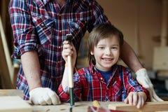 Little woodworker Stock Photo