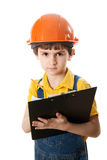 The little work superintendent with clipboard Stock Images