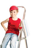 Little worker Stock Photography