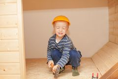 Little worker. Royalty Free Stock Images