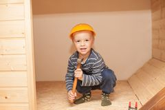 Little worker. Stock Images