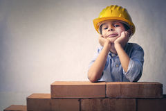 A little worker Stock Image