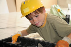 Little workman Stock Images