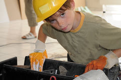 Little workman Stock Image