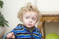 Little worried boy Stock Photography