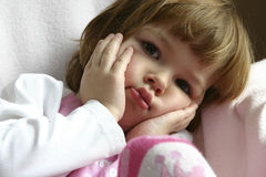Little worries. Little cute child, looking worried and concerned Royalty Free Stock Photography