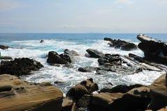 Little Yeliou rocks in Taiwan Royalty Free Stock Image
