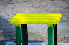 Little yellow bench  Stock Image