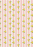 Little yellow flower pattern Stock Image