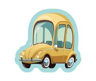 Little Yellow Germany car Royalty Free Stock Image