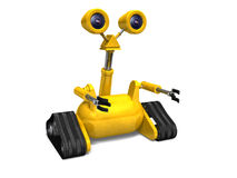 Little Yellow Robot Royalty Free Stock Photos