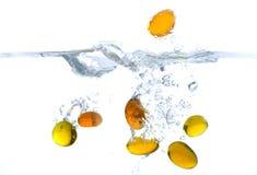 Little yellow stones splash Royalty Free Stock Photo