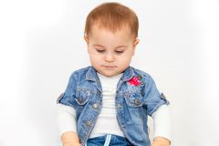 Little young baby girl want to eat Royalty Free Stock Photos