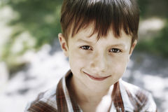 Little young boy smiley face Stock Photography