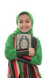 Little Young Muslim Girl Loves Holy Quran Stock Photos