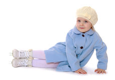 Little young skater Royalty Free Stock Photos