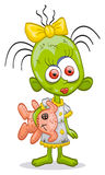 Little zombie-girl Royalty Free Stock Images