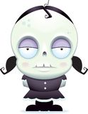 Little Zombie Girl. A cute cartoon zombie child royalty free illustration