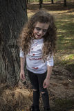 Little Zombie Girl Stock Images