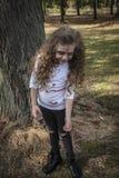 Little Zombie Girl stock photos