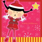 Littleangelpinkcard Royalty Free Stock Images