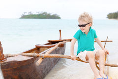Littlee boy at vacation Stock Photos