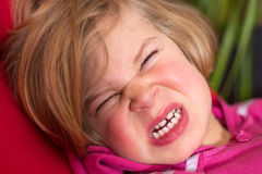 Littlegirl is in bad mood Stock Photography