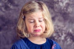 Littlegirl is in bad mood Stock Photography