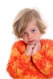 Littlegirl is in bad mood Stock Photos