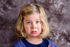 Littlegirl is in bad mood Royalty Free Stock Images