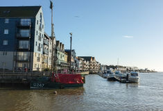 Littlehampton港口,苏克塞斯海岸 库存图片