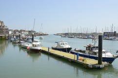Littlehampton的河Arun 苏克塞斯 英国 免版税库存图片
