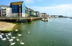 Littlehampton, Сассекс, Великобритания Свойство портового района стоковые фото