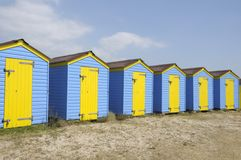 Littlehampton beach huts Stock Image