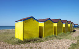 Littlehampton Beach Huts Royalty Free Stock Images