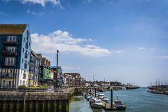 Littlehampton Harbour,  West Sussex, England, UK royalty free stock photos