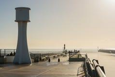 Littlehampton molo i latarnia morska, Sussex, Anglia Fotografia Royalty Free