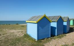 Littlehampton plaży budy Fotografia Stock