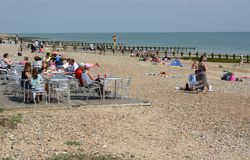 Littlehamptonstrand sussex engeland Stock Foto's